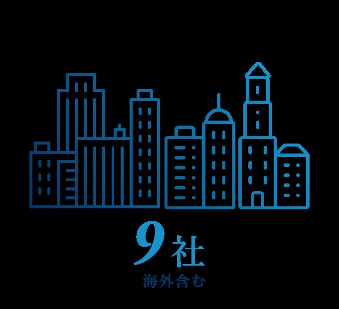 関係会社 9社(海外含む)
